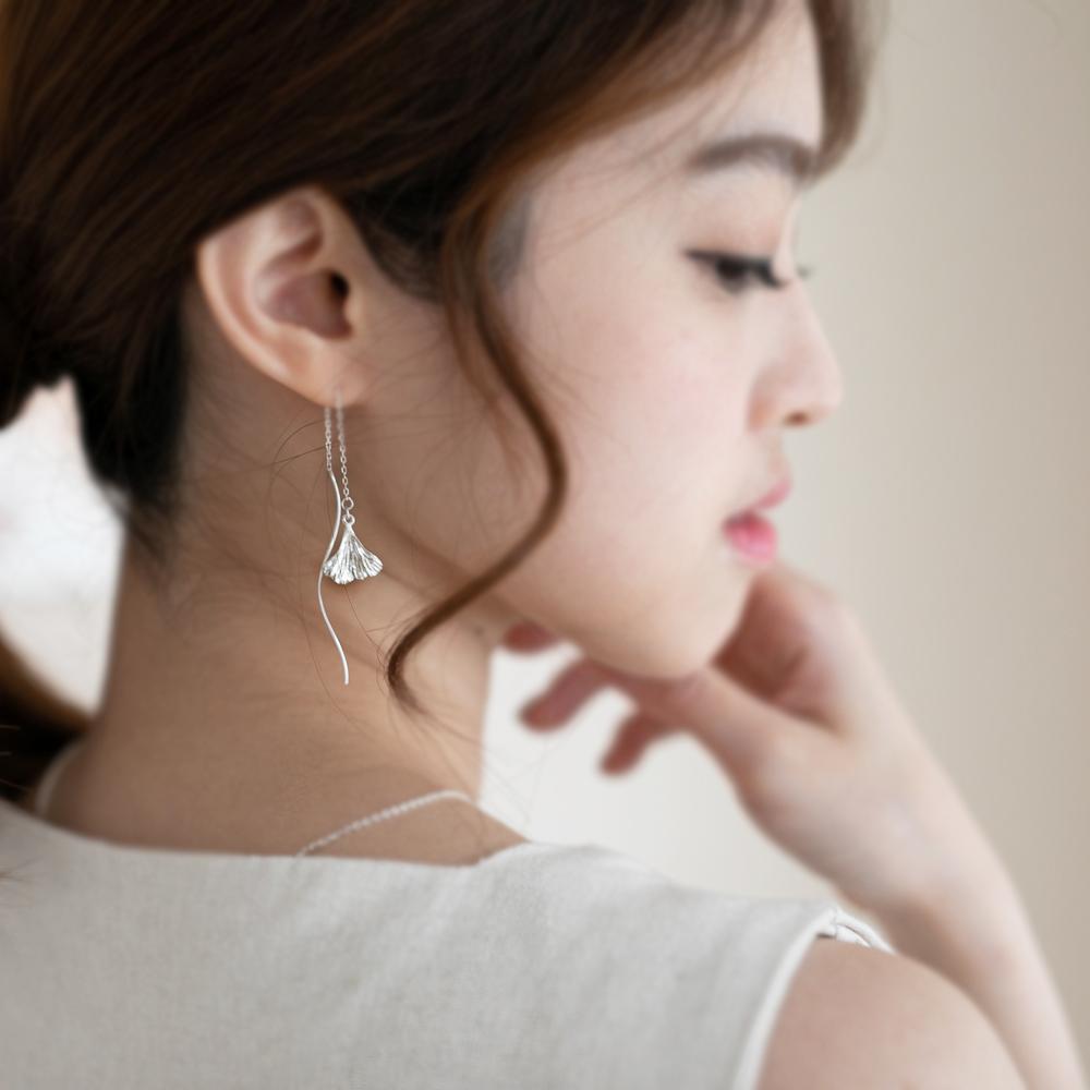 銀杏系列-垂墜耳環