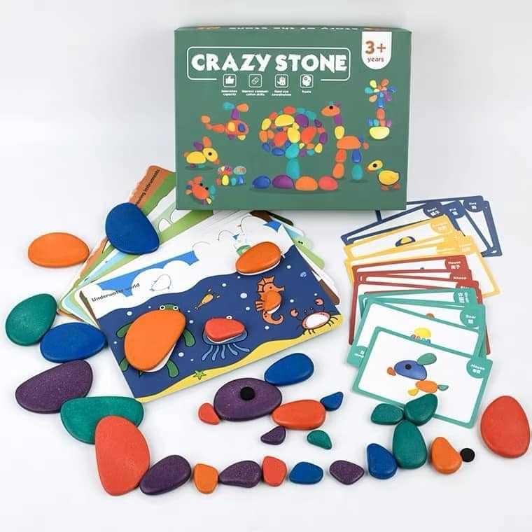 彩虹堆疊石頭
