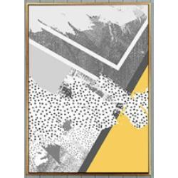 幾何黃掛畫(3幅1組
