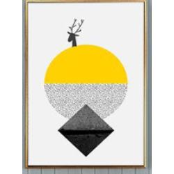 幾何黃掛畫(3幅1組)