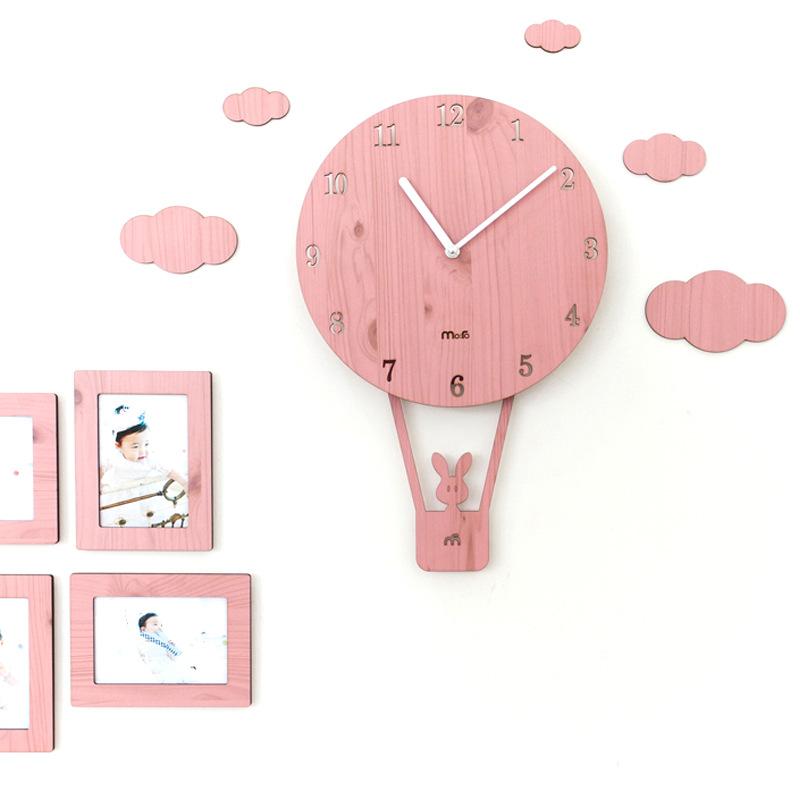 熱氣球掛鐘