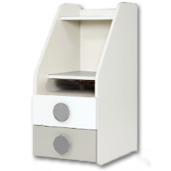 BCD兒童桌邊雙層抽屜櫃