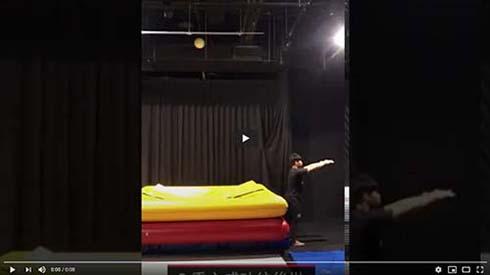 『體操後空翻前置訓練-擺臂的重要性』
