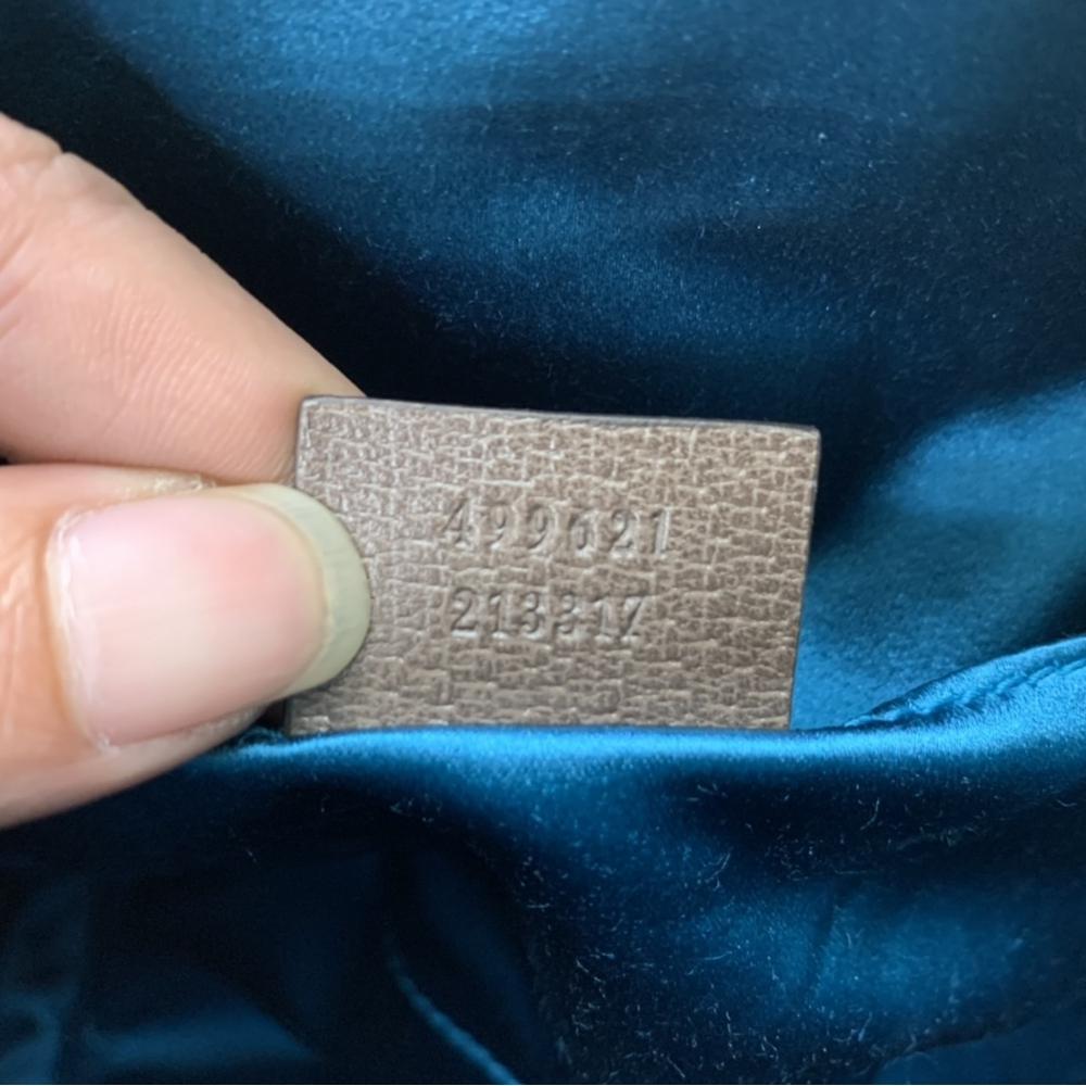 (已售出)GUCCI 經典Ophidia系列GG Logo印花綠紅綠帆布織-斜背包/貝殼包