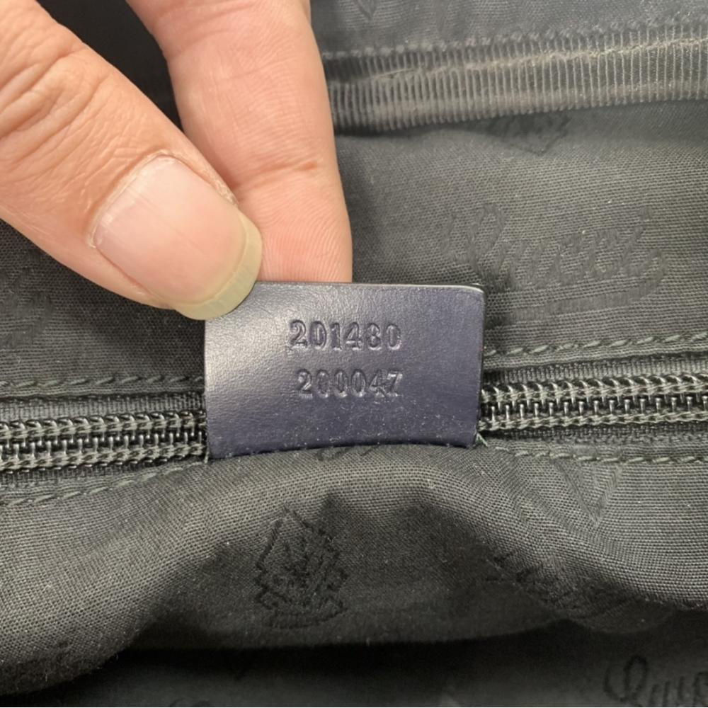 【已售出】售 精包 GUCCI公事包 201480 黑色 雷射PVC,流當價格甜滋滋