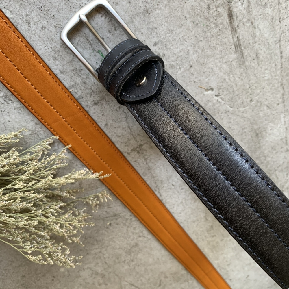 匠人手工藝系列 - 立體車線設計真皮皮帶男生女生皮帶腰帶共2色
