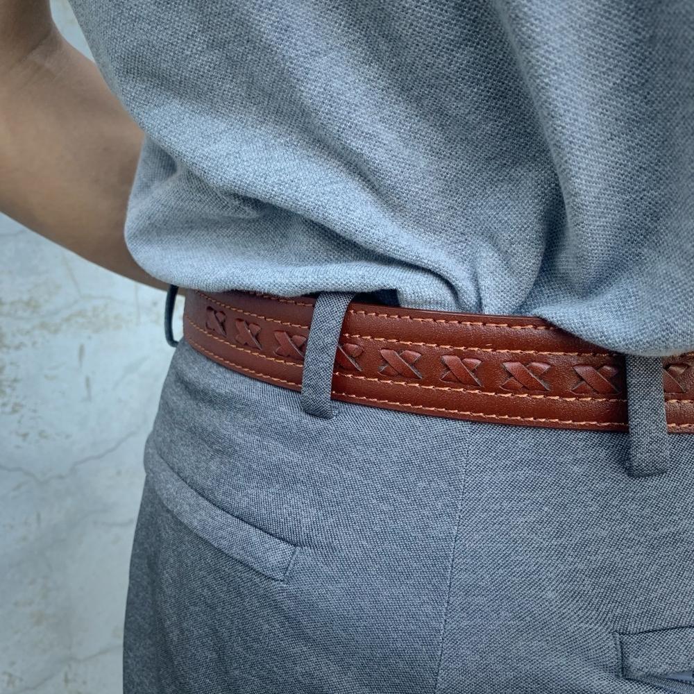 手工編製系列 – 交叉樣 職人設計款 真皮皮帶 男生女生皮帶 腰帶 共3色