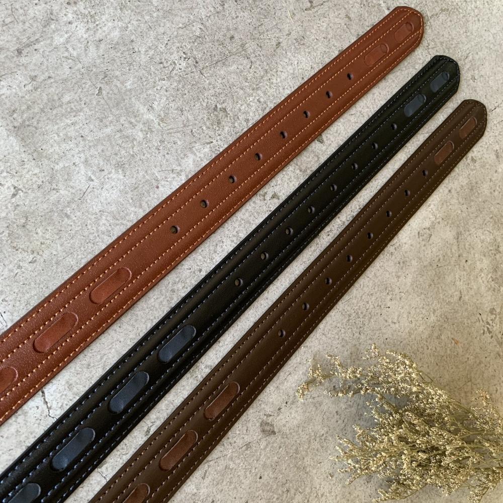 手工編製系列 – 單條樣 職人設計款 真皮皮帶 男生女生皮帶 腰帶 共3色