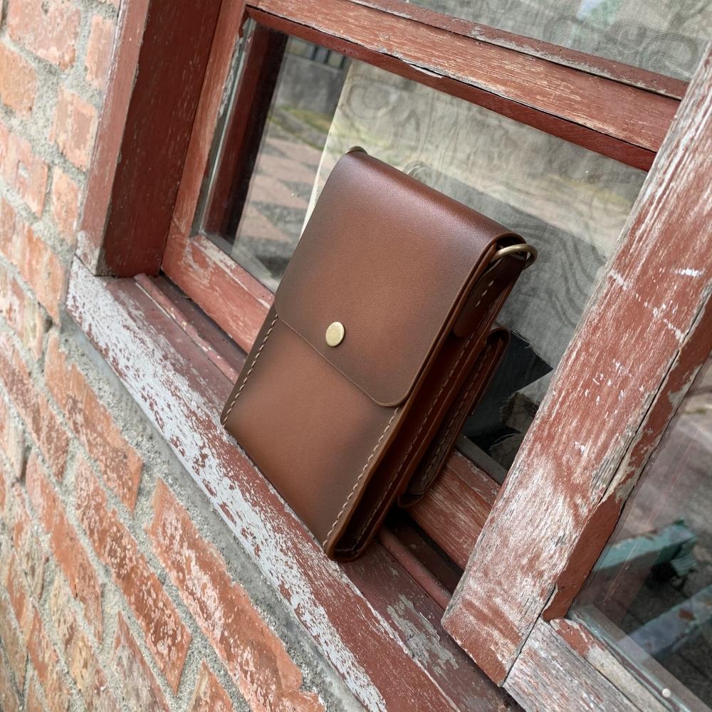 EDJO設計款輕巧好攜帶隨身包手機包錢包側背包肩背包真皮包包