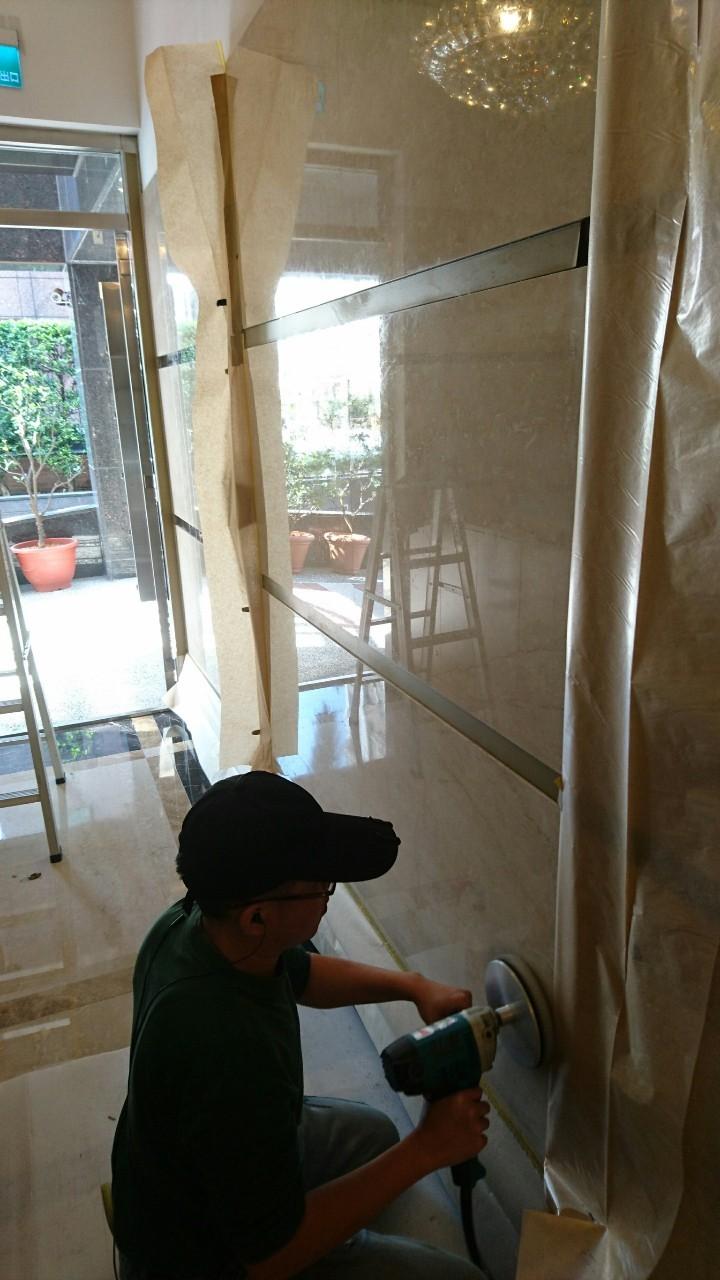 石材壁面拋光養護工程