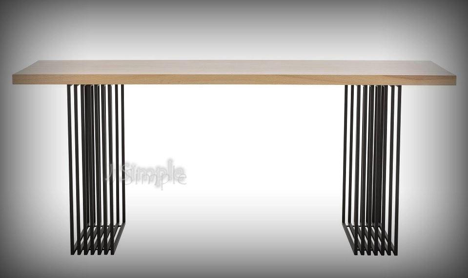 柵欄款實木桌