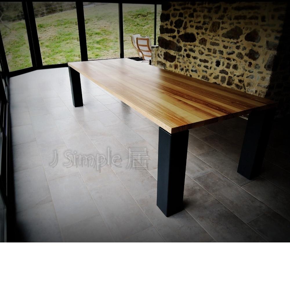 霸氣大方管實木桌
