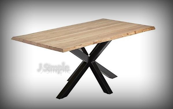 X型腿腳實木桌