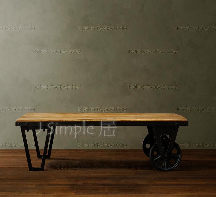 雙鐵輪茶几餐桌