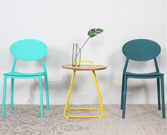 北歐簡約塑料餐椅