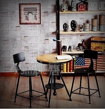 鐵製靠背鐵椅  吧台