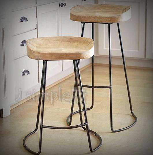 工業風鐵製細腳椅 高