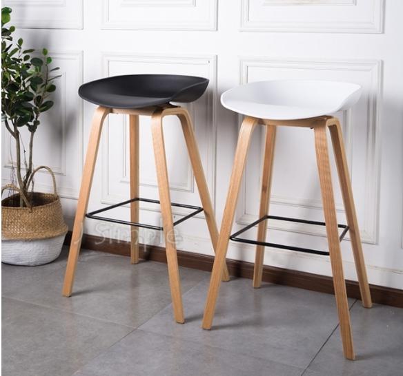 北歐弧形塑料吧椅