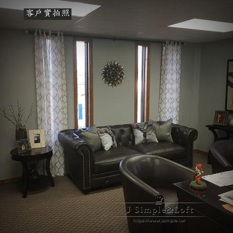 美式復古鉚釘單拉釦沙發