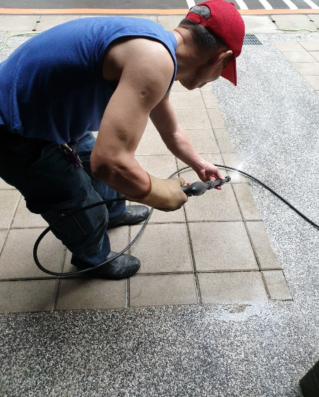高壓水柱清洗