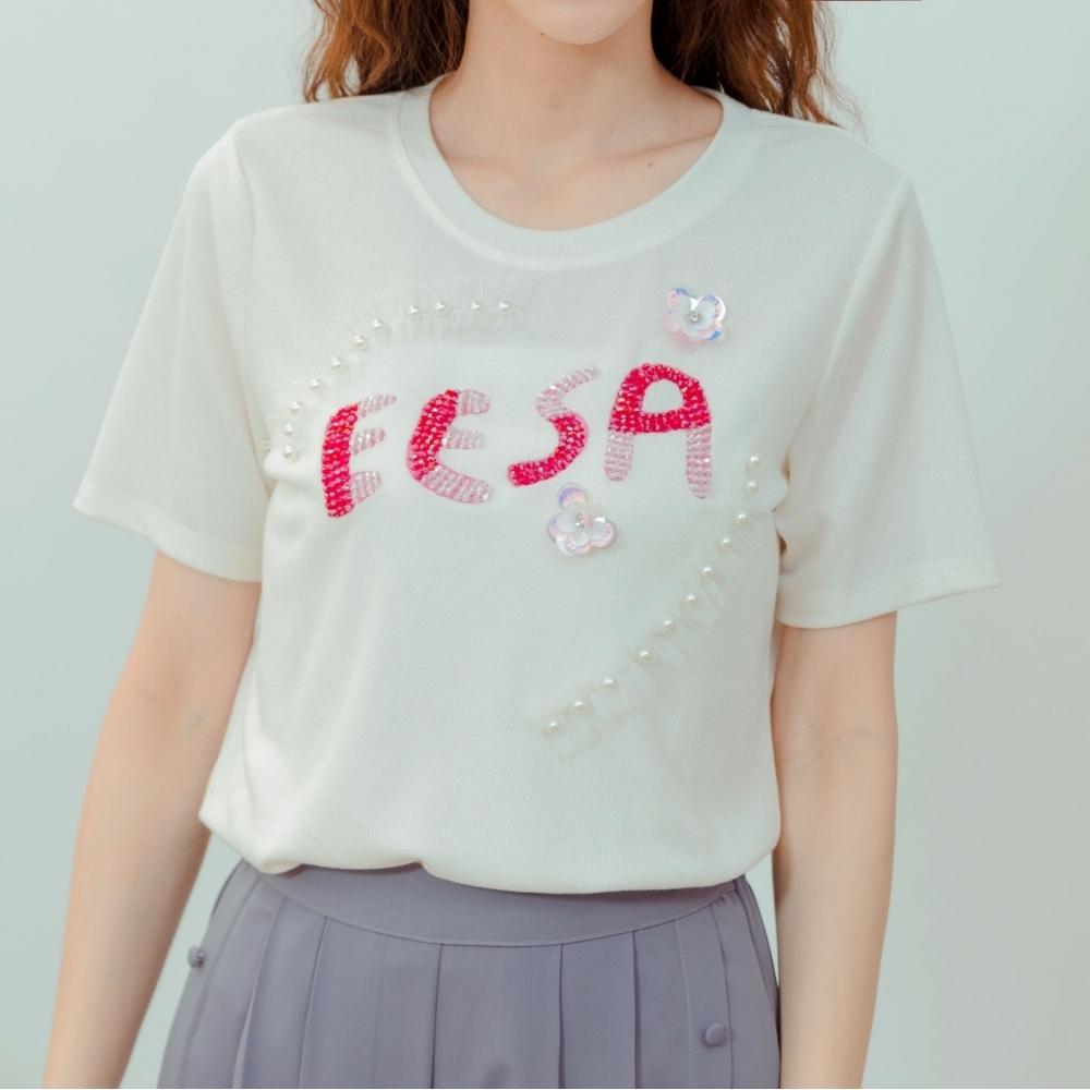 EESA 字母圖騰印花上衣