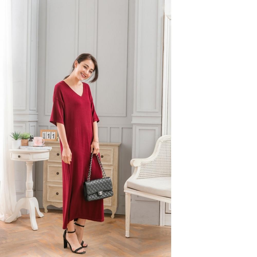 EESA 簡約風薄針織長洋裝 3色