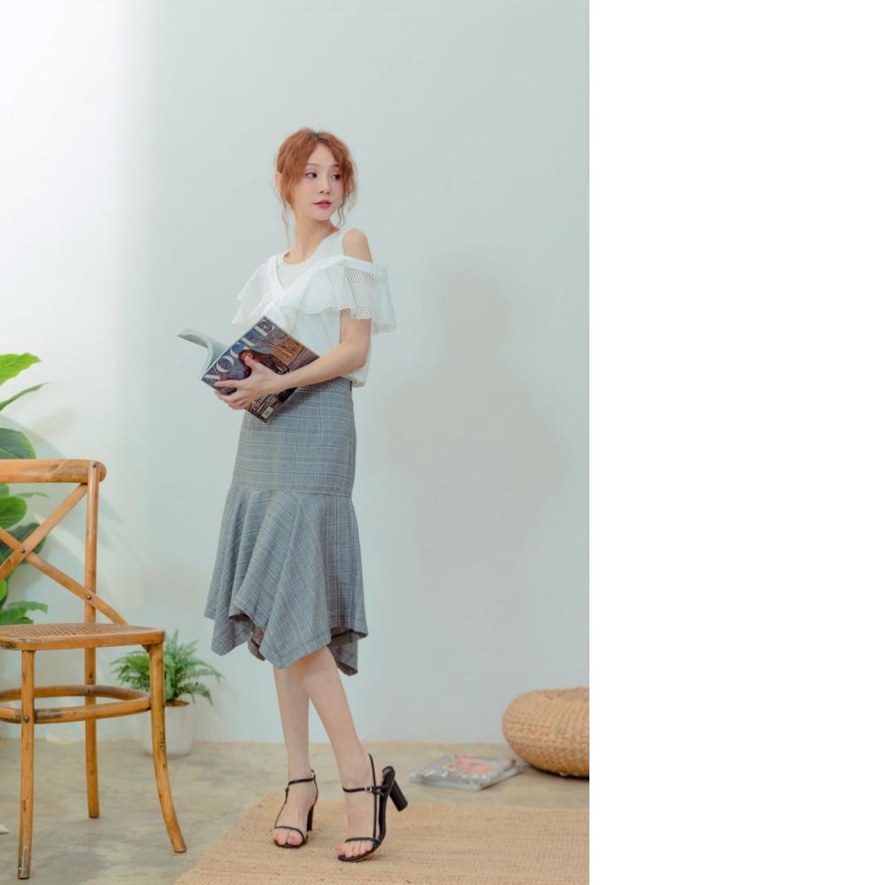 EESA 格子魚尾裙