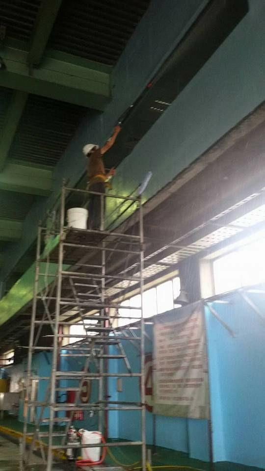 台北市北投垃圾焚化場高空玻璃清洗工程