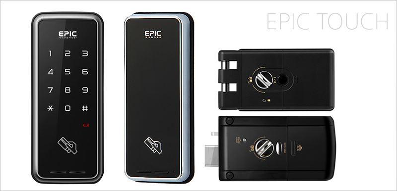 電子鎖EPIC TOUCH-M-H(橫拉門勾鎖│一般平鎖)