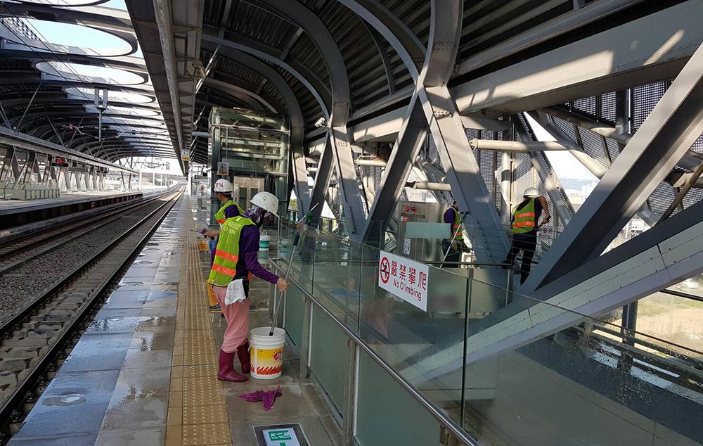 火車站清潔影片