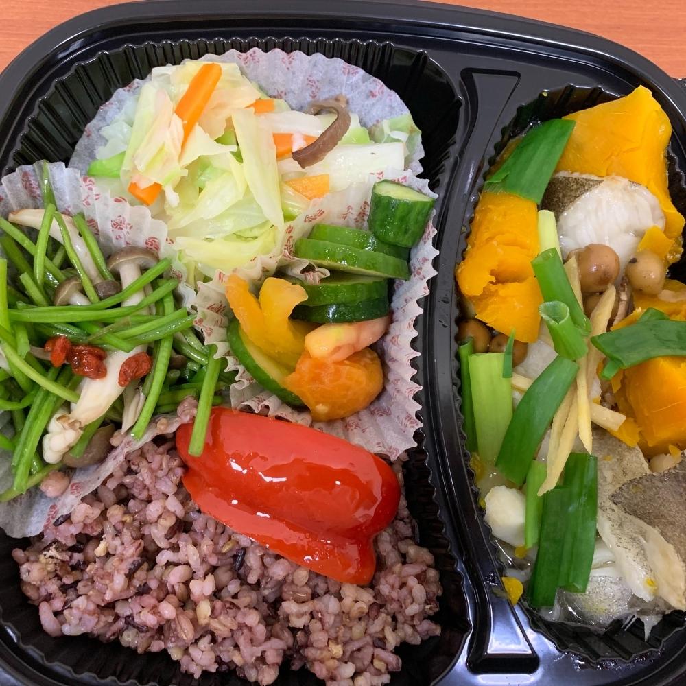 南瓜蒸鮮魚餐盒